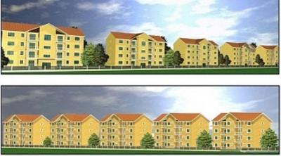 Vand proiect pentru 4 blocuri, P+2E+M si teren de 4800 mp in Cristian